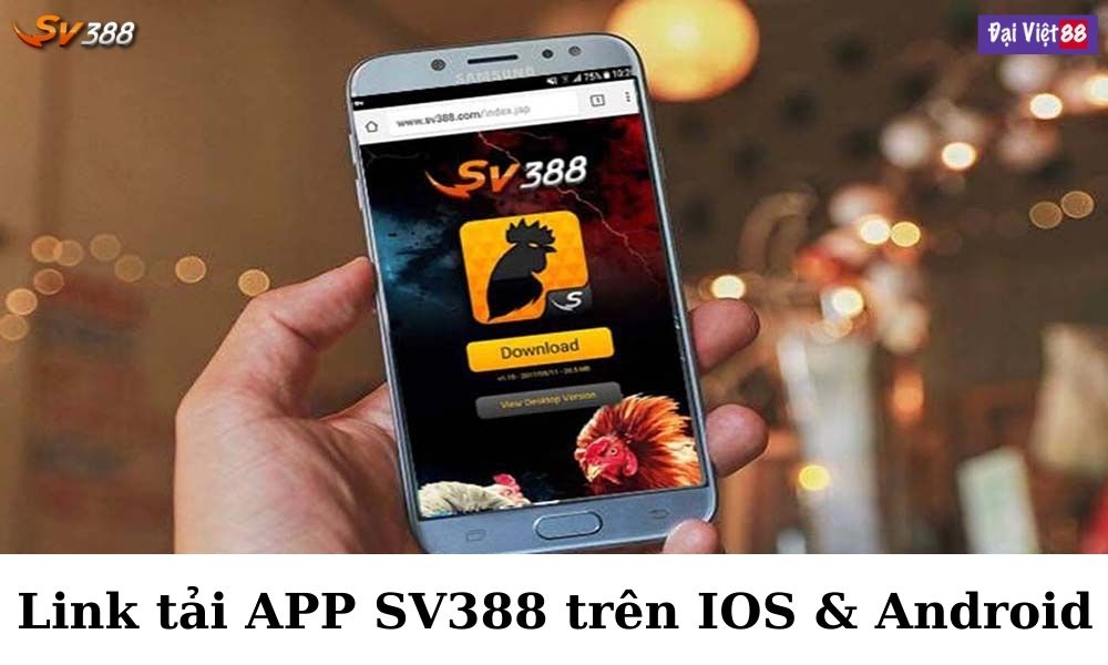 Link tải app SV388 trên IOS & Android